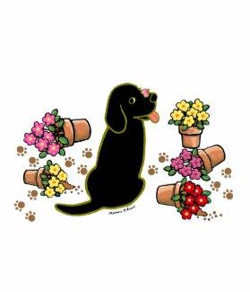 Mischievous Black Labrador Scarf