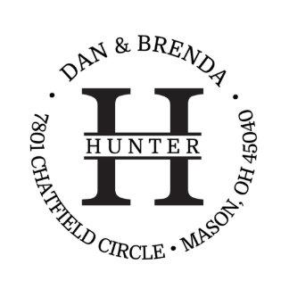 Hunter Return Address Stamp