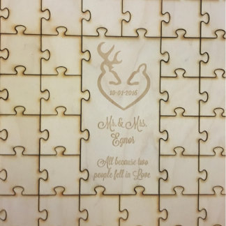 Wood Engraved Puzzle