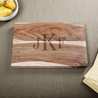 Exotic Hardwood Classic Monogram Cutting Board