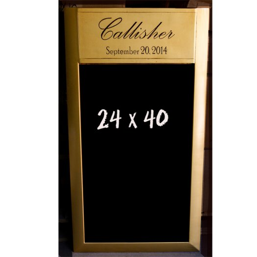 Antique Gold Wedding Chalkboard Sign