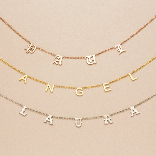 Elegant Person's Name Gold-Plated Necklace