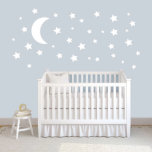 "Moon And Stars Wall Decal Set<br><div class=""desc"">Place this decal in your kid's room,  nursery,  or even your own bedroom. Apply them to their ceiling and give the illusion of a starry night!</div>"