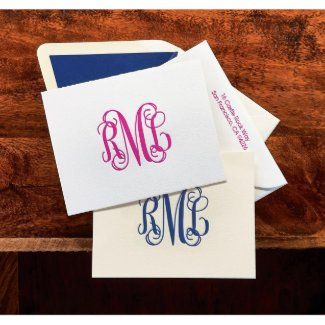 Monogrammed Letterpress Note - 100% Cotton Paper