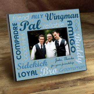 Groomsman Personalized Best Buds Picture Frame