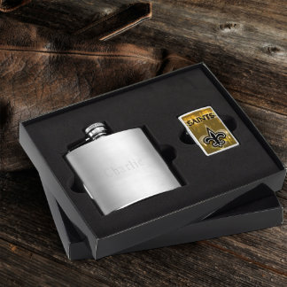 Flask & New Orleans Saints NFL Zippo Lighter