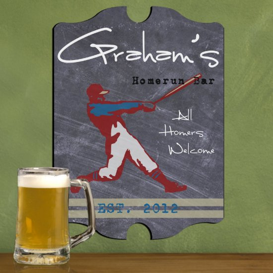 Personalized Man Cave Bar Signs - Homerun