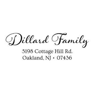 Dillard Family Self Inking Return Address Stamp