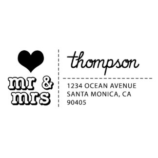 Mr & Mrs Self Inking Return Address Stamp