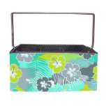 Blossom Hibiscus Floral Picnic Caddy