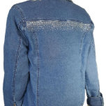 Rhinestone Stretch Denim Women's Jacket