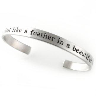 Custom Quote Cuff Aluminum Bracelet