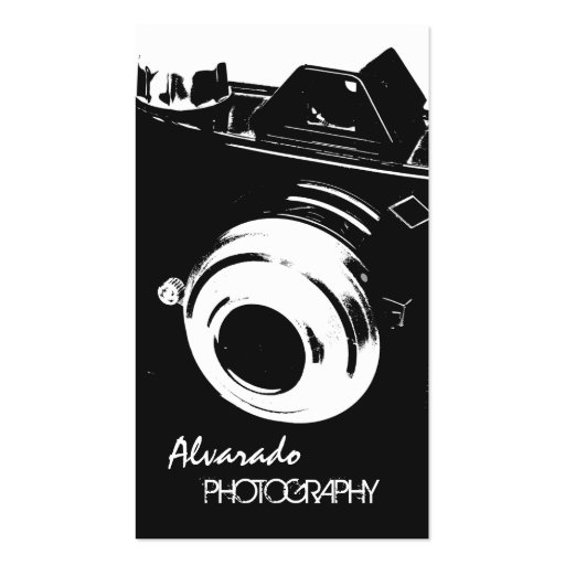 Photographer Creative Retro Black White Camera Double-Sided Standard Business Cards (Pack Of 100)
