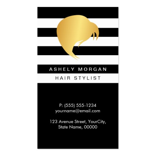 Hair Styling Appointment Card - Girl's Hair Salon Double-Sided Standard Business Cards (Pack Of 100)