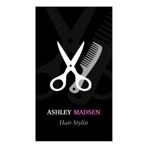 Scissor Comb Symbol - Classy Hair Stylist Business Cards