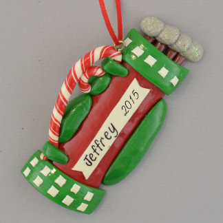 Golfbag Personalized Ornament