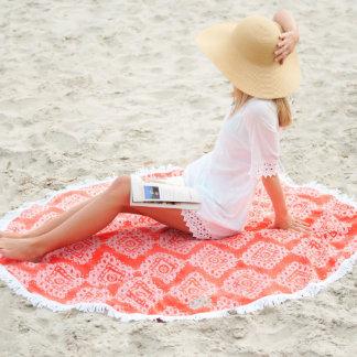 Monogram Round Sand Circle Beach Towel