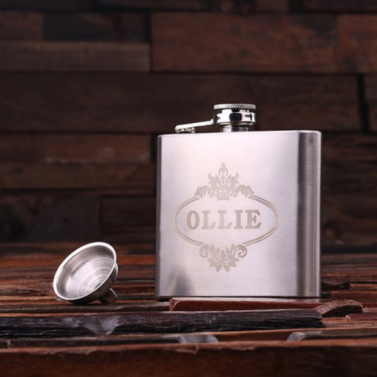 Personalized Stainless Steel Flask – 5 oz.