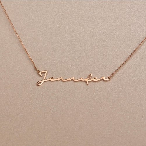 Pretty Person's Name Silver, Gold, or Rose Necklac