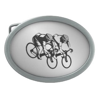 Bicycle Race Silver Belt Buckle