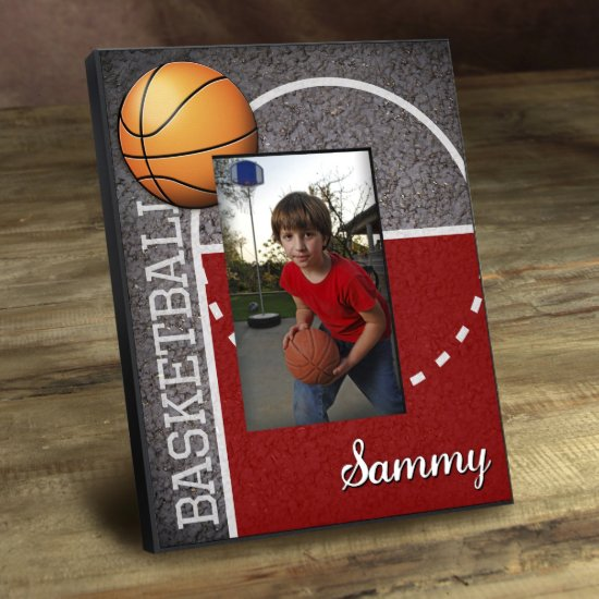 Personalized Kids Sports Frame - Basketball