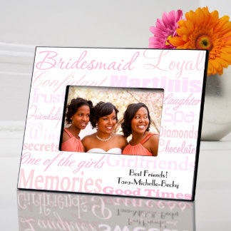 Shades of Pink Personalized Bridesmaid Frame Picture Frame