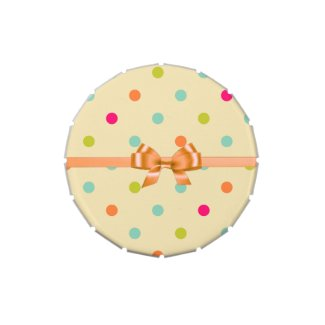 Polka Dotted Candy Tin