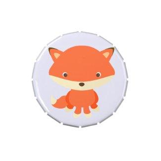 Woodland Creature Fox Candy Favor Tin Candy Tin