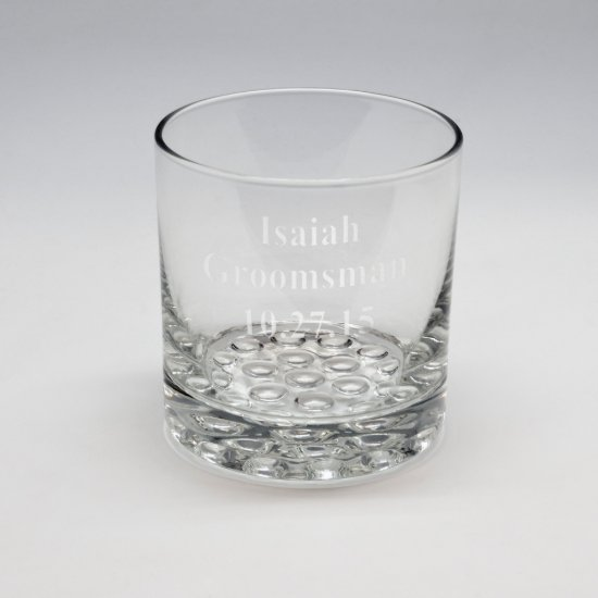 Sand Etched Whiskey Glass #14