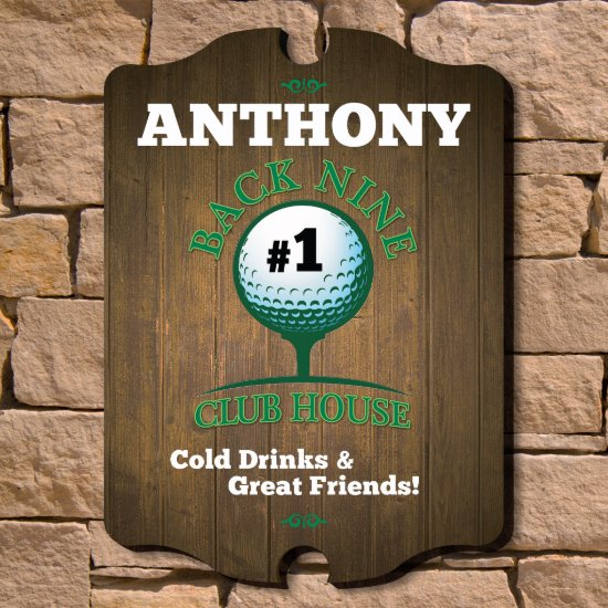 Back Nine Club House Custom Golf Sign