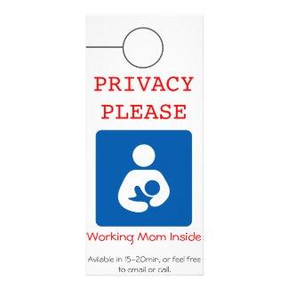 Breastfeeding Doorhanger Rack Card