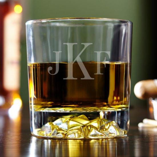 Engraved Classic Monogram Uptown Whiskey Glasses