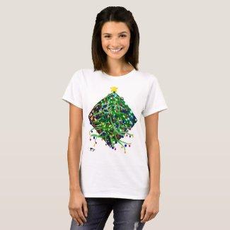 Holiday Tshirt Christmas Tree Lights Festive Party