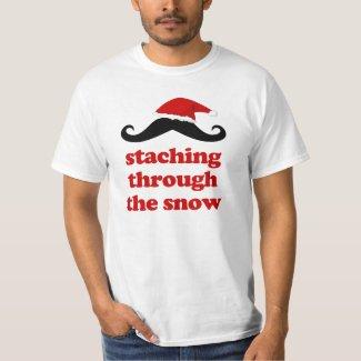 'staching through the snow' Funny Cchristmas T-Shirt
