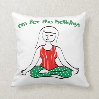 Christmas Om for the Holidays Throw Pillow