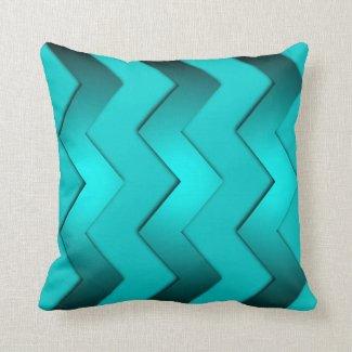 Aqua Zig Zag Design Pillows