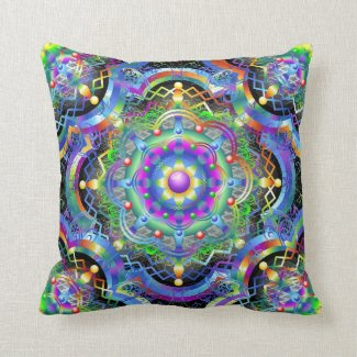 Mandala Universe Colors Pillow