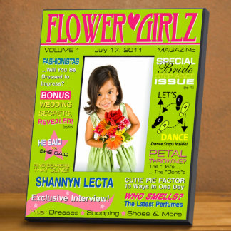 Green Personalized Flower Girl Magazine Frame Picture Frame