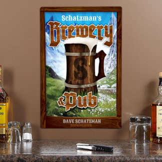 Alpine Brewery & Pub Personalized Metal Sign