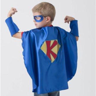 Personalized Blue Superhero Costume w/Cape