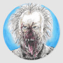 Day Of The Dead Zombie Classic Round Sticker