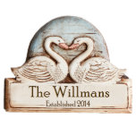 14x10 Personalized Home Plaque with Name and Date