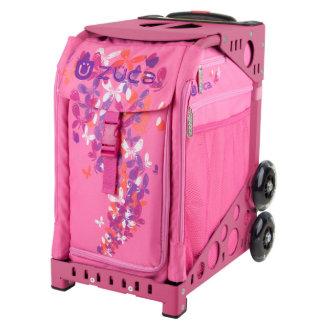 ZÜCA Rolling Bag w/Flutterz & Pink Sport Frame