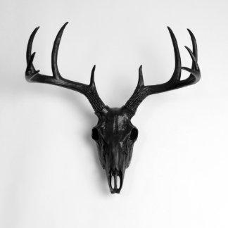 Black Faux Deer Skull