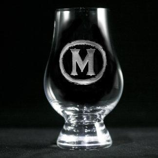 Vidrio con monograma moderno de Glencairn