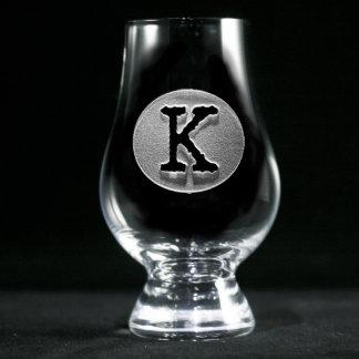 Vidrio con monograma de Glencairn de la tipografía