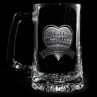 Best Mom Personalized Beer Mug