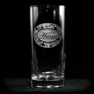 Ornate Damask Personalized Cooler Glass