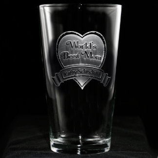 Best Mom Personalized Pint Glass