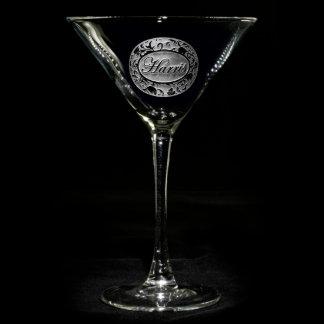 Vidrio personalizado damasco adornado de Martini